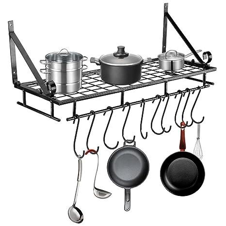 Mensola Porta Oggetti da Cucina, Multiuso in Ferro con Vernice di ...