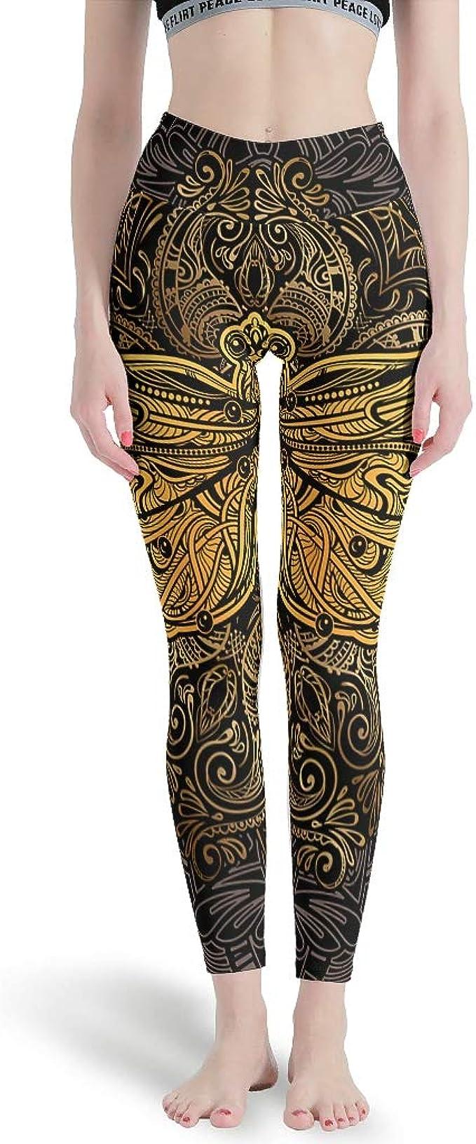 L S M Size XS Dragonfly Print High Waist Yoga Leggings XL