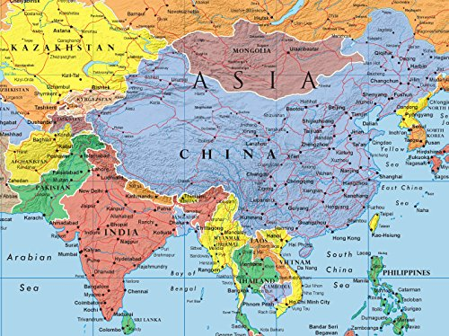 48x78 Huge World Classic Elite Wall Map Laminated - Buy Online in ...