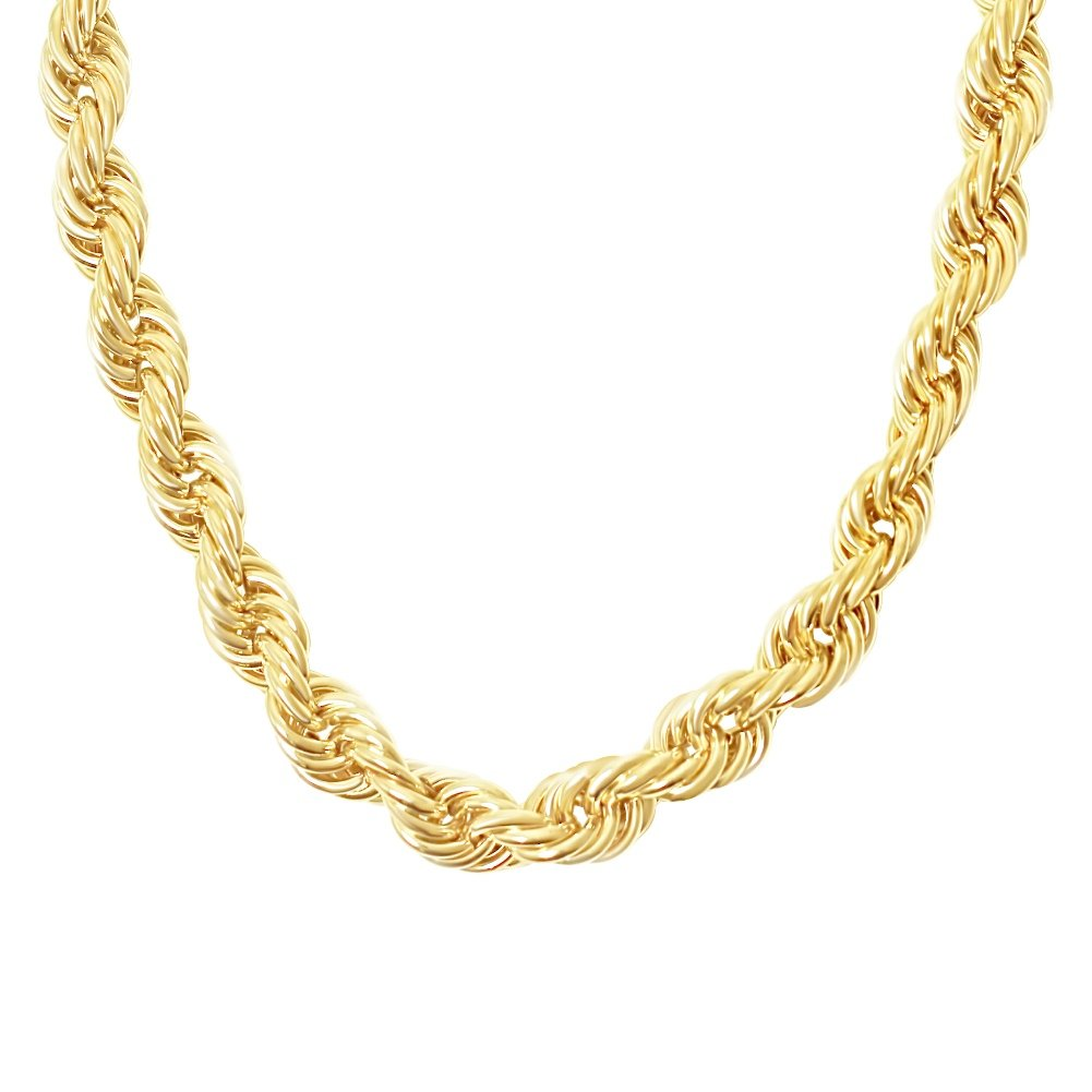 MAJU Designers 18K Gold Plated Stainless Steel Jumbo Dookie Hip Hop Rope Chain Necklace 20MM, 30-36 Inches 30 B07CX94FDT_US