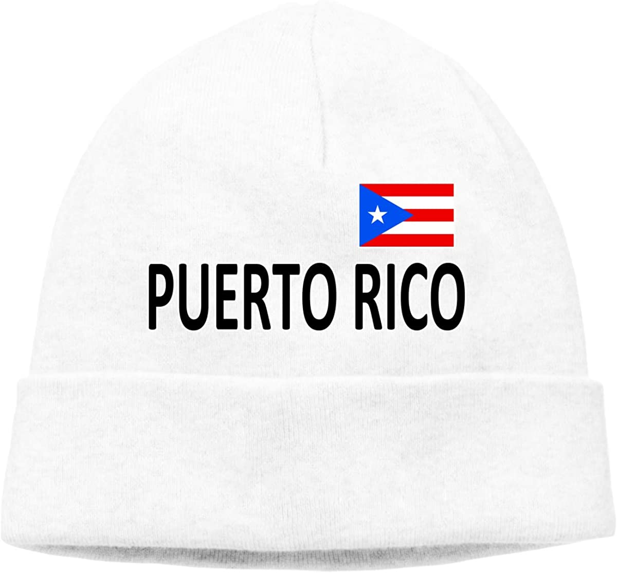 Beanie Hat Puerto Rico National Pride Warm Skull Caps for Men and Women