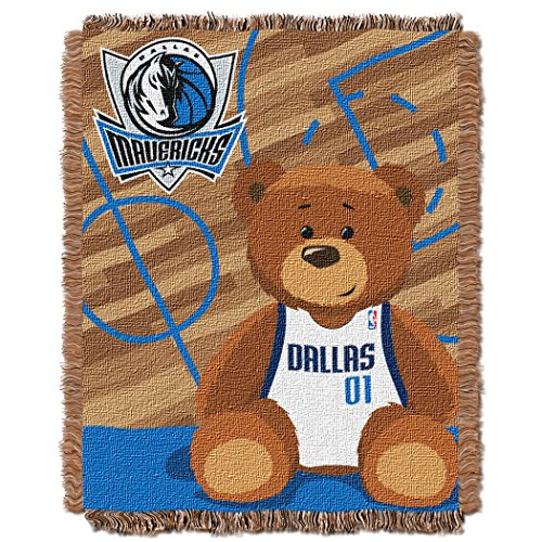 The Northwest Company Officially Licensed NBA Dallas Mavericks Half Court Woven Jacquard Baby Throw Blanket, 36