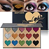 BEAUTY GLAZED Makeup 15 Colors Glitter Eyeshadow Palette