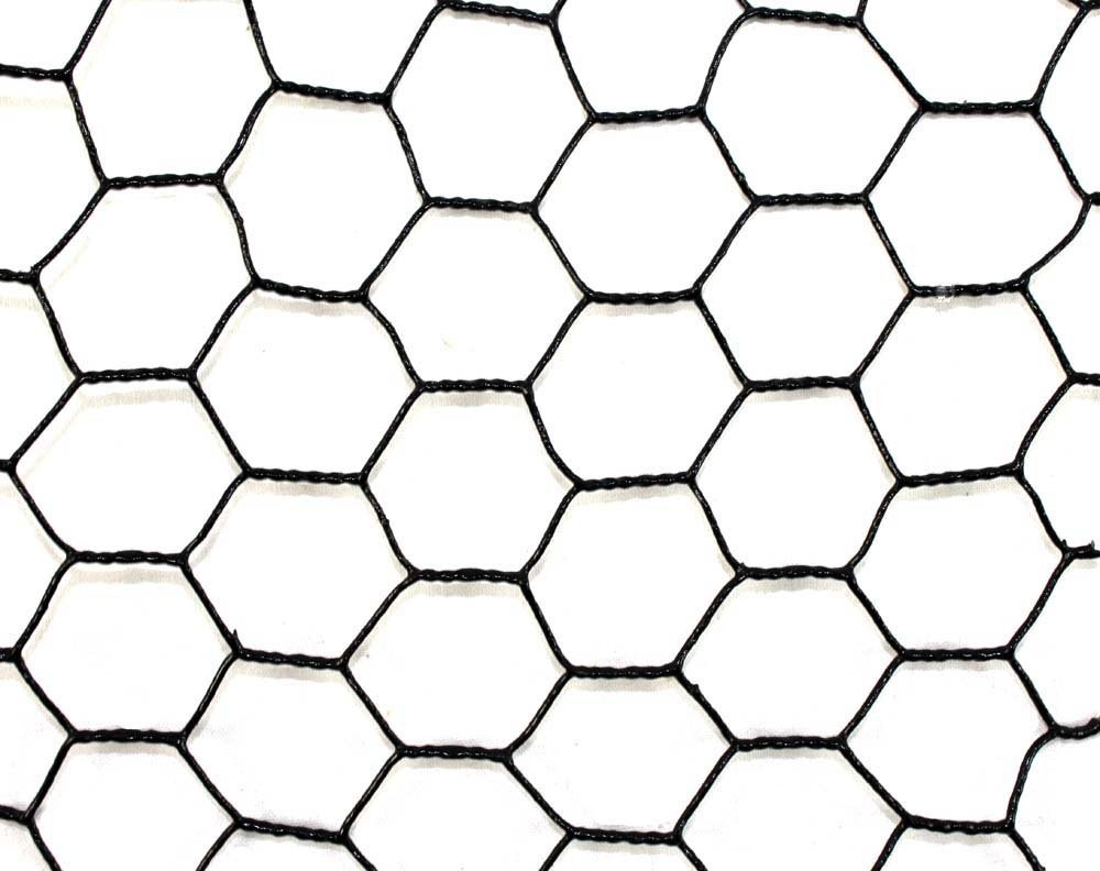 Steel Hex Web Blk PVC Coated Fence 7.5' x 100'