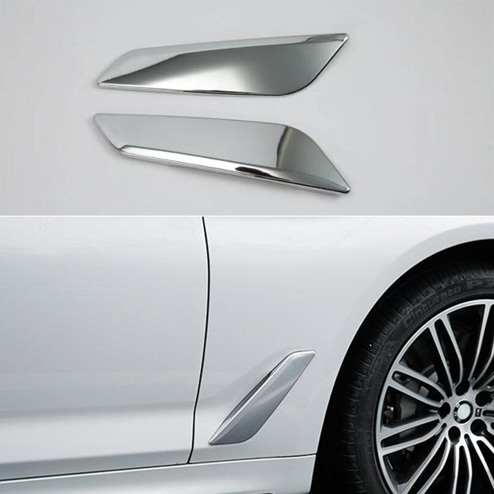 Rqing For BMW New 5 SERIES Sedan (G30) 530i 530e 540i M550i 2017 2018 2019 Chrome Front Side Fender Vents Air Outlet Cover Trim