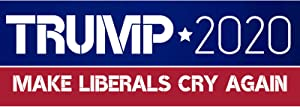MissFun Trump 2020 Make Liberals Cry Again Vehicle Stickers 10 pcs