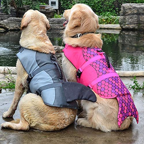 Flyingpets Life Jackets for Dogs - Dog Life Jacket - Dogs Life Jacket - Pet Dog Life Jacket Safety Clothes Life Vest Collar Harness Saver Pet Dog Swimming Preserver, Sport, Waterproof, Pool. by Flyingpets