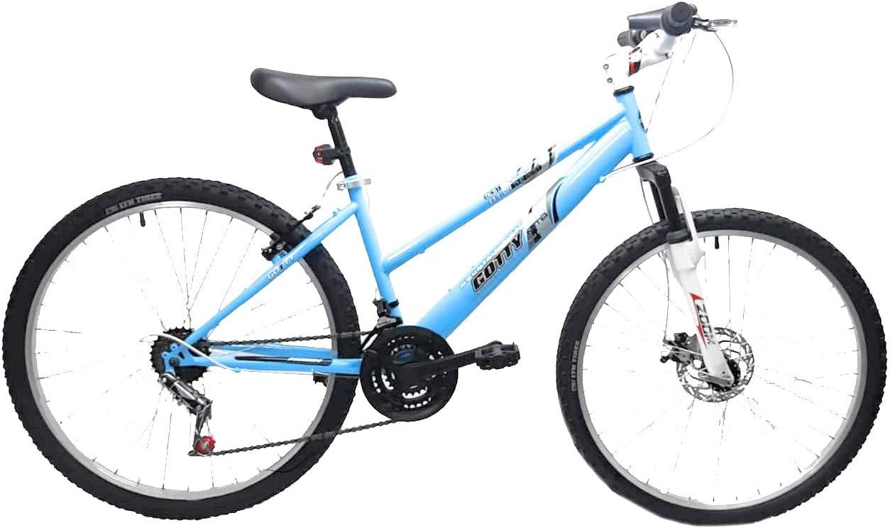 Frenos de Disco 21 velocidades con suspensi/ón Delantera Gotty Bicicleta de monta/ña Modelo AGUILA-26 Equipo de luz Delantera y Trasera. Cuadro 26 se/ñora
