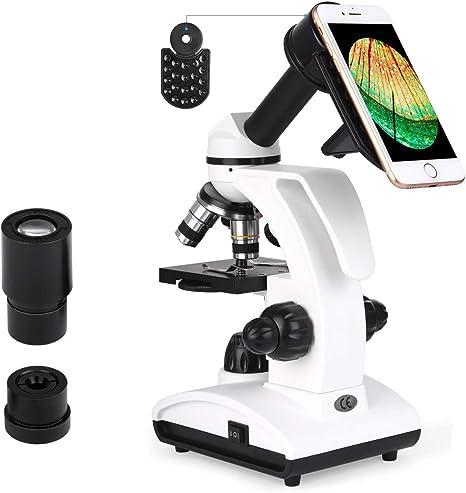 TELMU Microscopio Optico 40-1000X: Amazon.es: Electrónica