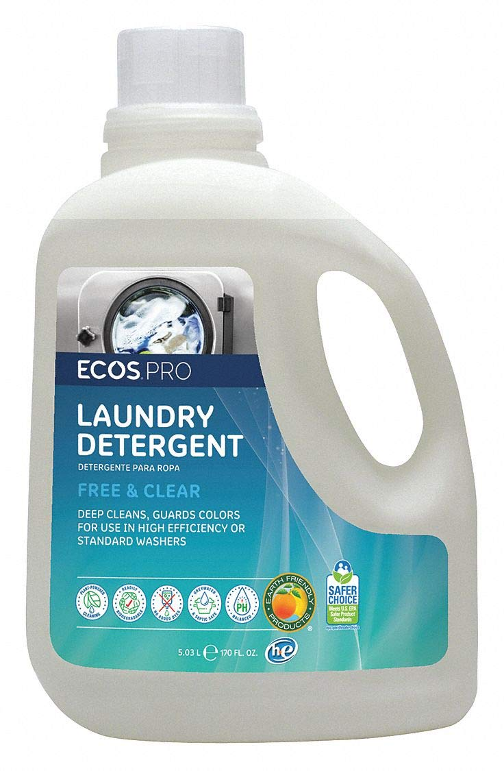 ECOS PRO 170 oz. Bottle Odorless Laundry Detergent, 1 Pack by ECOS PRO