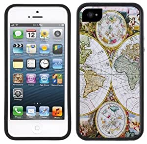 Antique Old World Map Handmade iPhone 4/4s Black Case