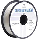 TechOrbits 3D Printer PLA Filament Clear Dimensional Accuracy +/- 0.02 mm, 1 kg Spool 1.75 mm