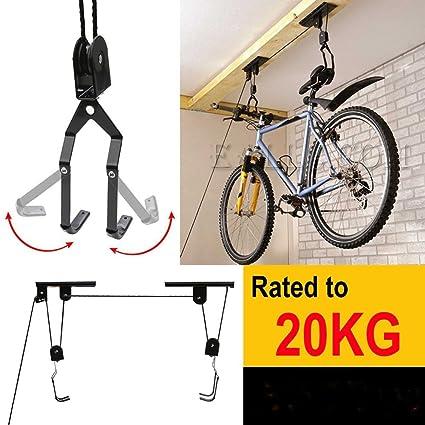 Lighter house bicycle lift ceiling mounted hoist storage garage bike