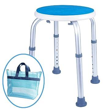 Medokare Dusche Hocker mit gepolstertem Sitz - Dusche Sitz für Senioren mit  Tasche, Dusche Bench Bad Stuhl, Handicap Dusche sitzen für Erwachsene ...
