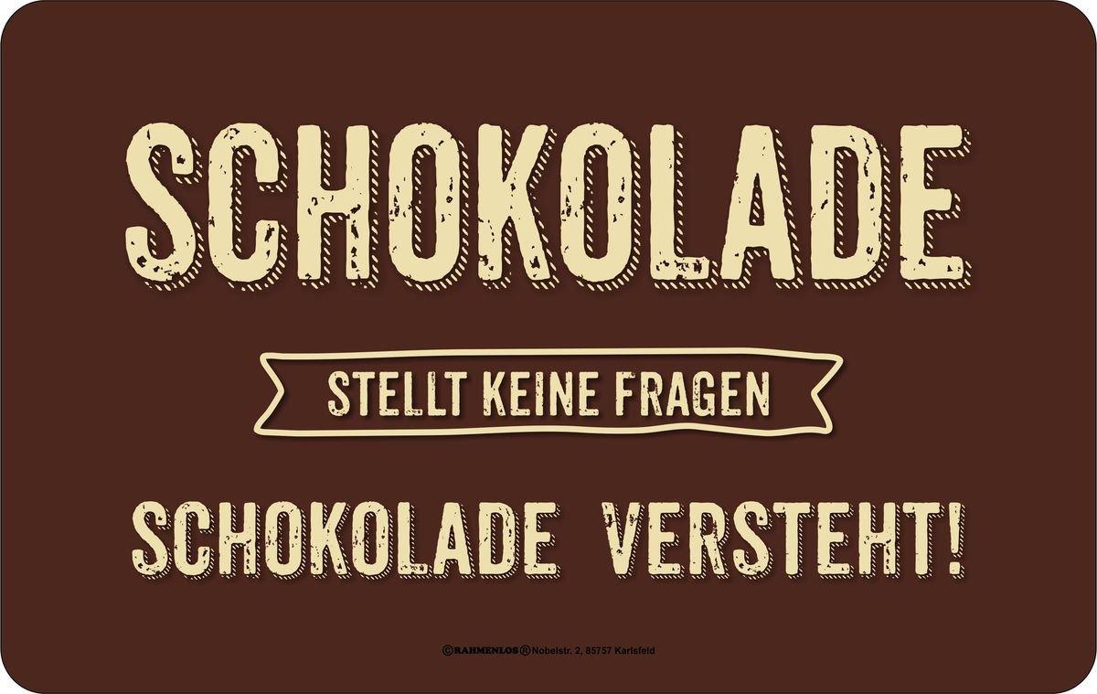 "Frühstücksbrettchen Rahmenlos /""Schokolade/"" 23,5 x 14,5 cm"