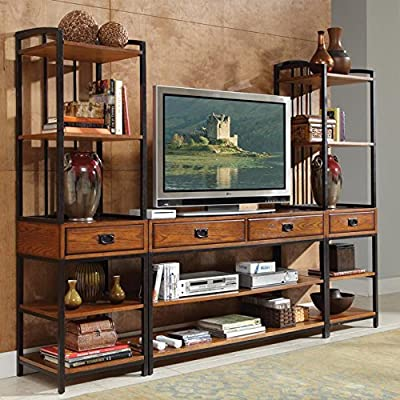 Home Styles Modern Crafts 3 Piece Gaming Entertainment Center - Oak Finish