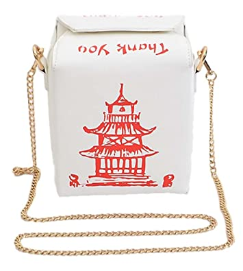 532bbc972c0e Chinese Take-Out Clutch Shoulder Bag Crossbody Purse (White ...