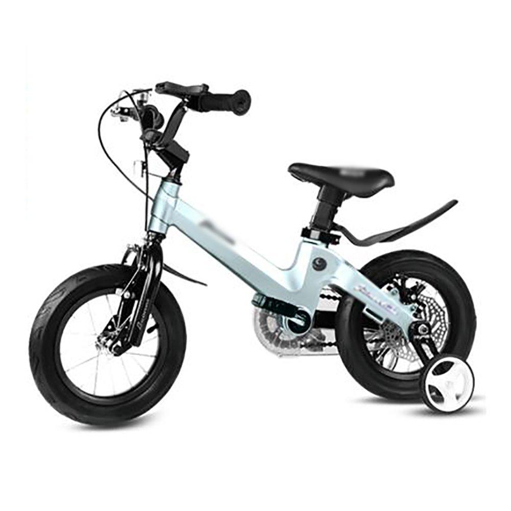 18インチの男の子と女の子サイクリング子供の自転車自転車バイク2-4-6-7-8-9-10歳のベビーキャリッジのベビーカーブルーピンクゴールド B07DXK5YSD 青 青