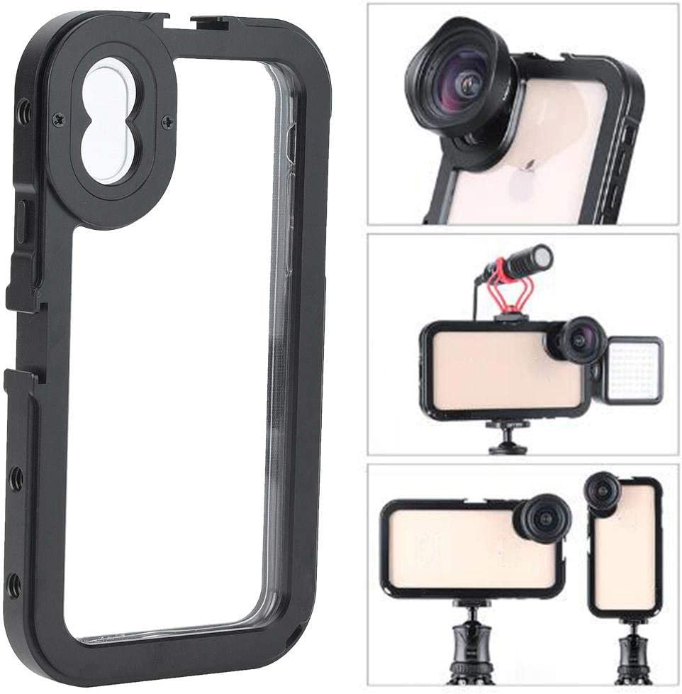 for Outdoor Uses Etc. XS MAX Pomya Ulanzi Mini Metal Camera Stabilizer Cage with Cold Shoe 1//4 Holes for iPhone Xs//Xs Max Such As Travelling Live Broadcasting