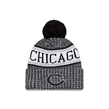d67af64631e New Era Chicago Bears Black   White 2018 Sport Knit NFL Beanie