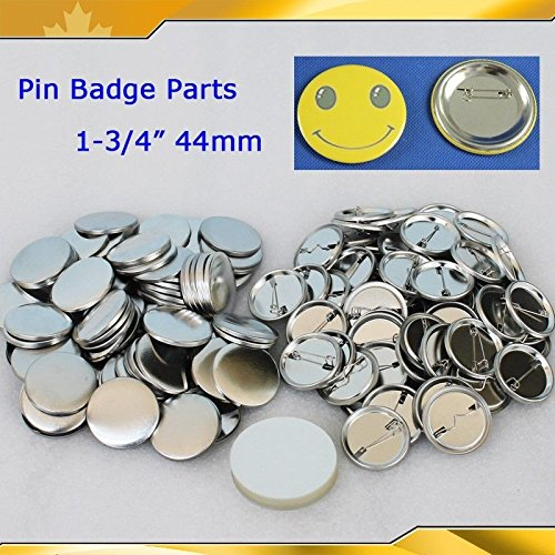 All Metal Pin Badge Button 500sets 1-3/4'' 44mm Supplies for Pro Maker Machine by Button Maker