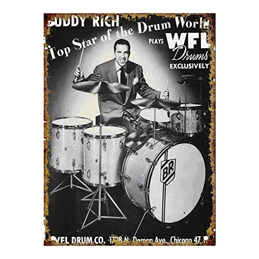 KODY HYDE Póster De Pared Metal - Buddy Rich for WFL Drums ...