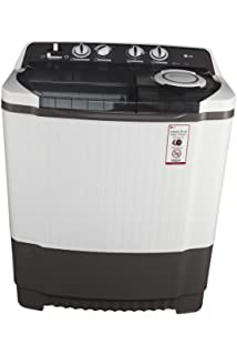 LG 8.0 kg Semi Automatic Top Loading Washing Machine  P9039R3SM, Dark Grey  Washing Machines   Dryers