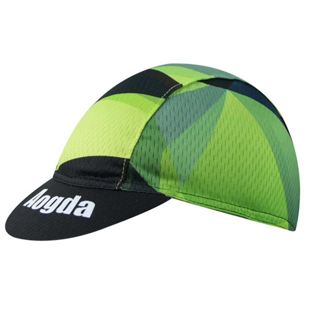BIYINGEE Cycling Cap Polyester Fits Under Helmet Green Cubes