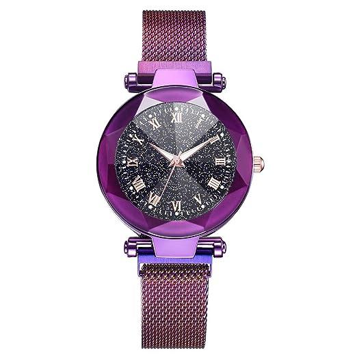 Reloj Moda Vidrio Convexo Cinturón De Malla Cuarzo Hebilla Magnética Watch Lujo De Señora Relojes: Amazon.es: Relojes