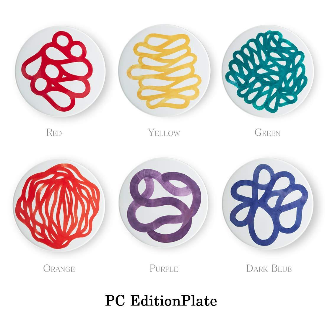 【PC Outline collection】1616/arita japan PC Edition Plate RED《PC エディションプレート レッド》Pierre Charpin ピエールシャルパン/有田焼/磁器/百田陶園 B07LGYZDDT