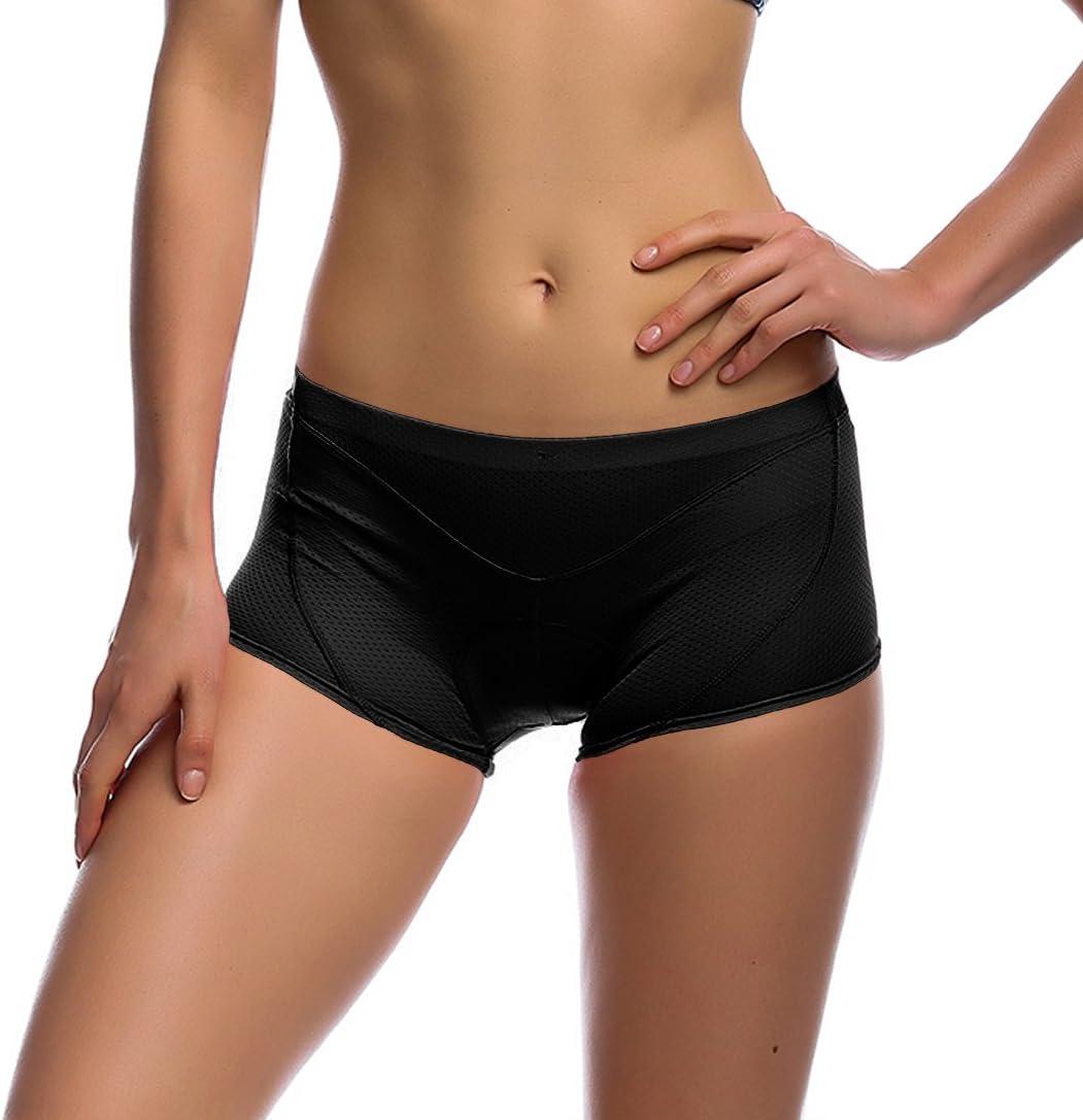/Conjunto de Ciclismo para Mujer Pantalones Cortos de Bicicleta Pantalones Alta Permeabilidad del Aire Ecuestre Undershorts Ropa Interior Unisex con 3D Transpirable Suave Pad S//M//L//XL//XXL iCREAT/