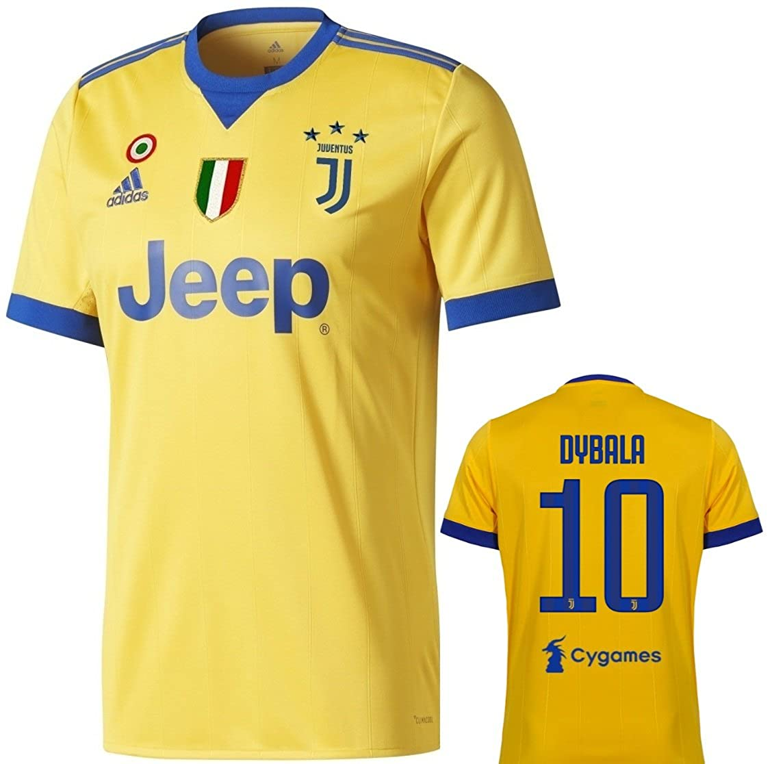 reputable site 0cf30 bf8e3 Amazon.com: adidas Juventus Dybala Away Jersey 2017/18 Adult ...