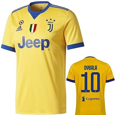 reputable site c5adc 2f5bc Amazon.com: adidas Juventus Dybala Away Jersey 2017/18 Adult ...