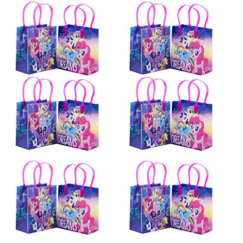 Little Pony Adventure and Friendship 12 Party Favor Reusable Goodie Small Gift Bags]()