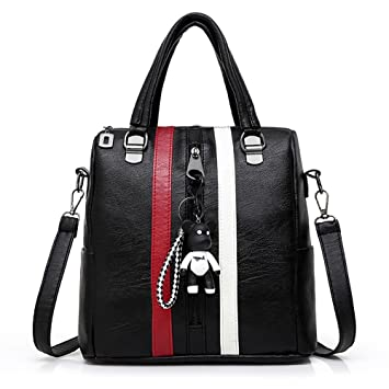212603db8c AOLVO Mode Sac à dos Sac à main pour femme, Petit sac à dos de cuir ...