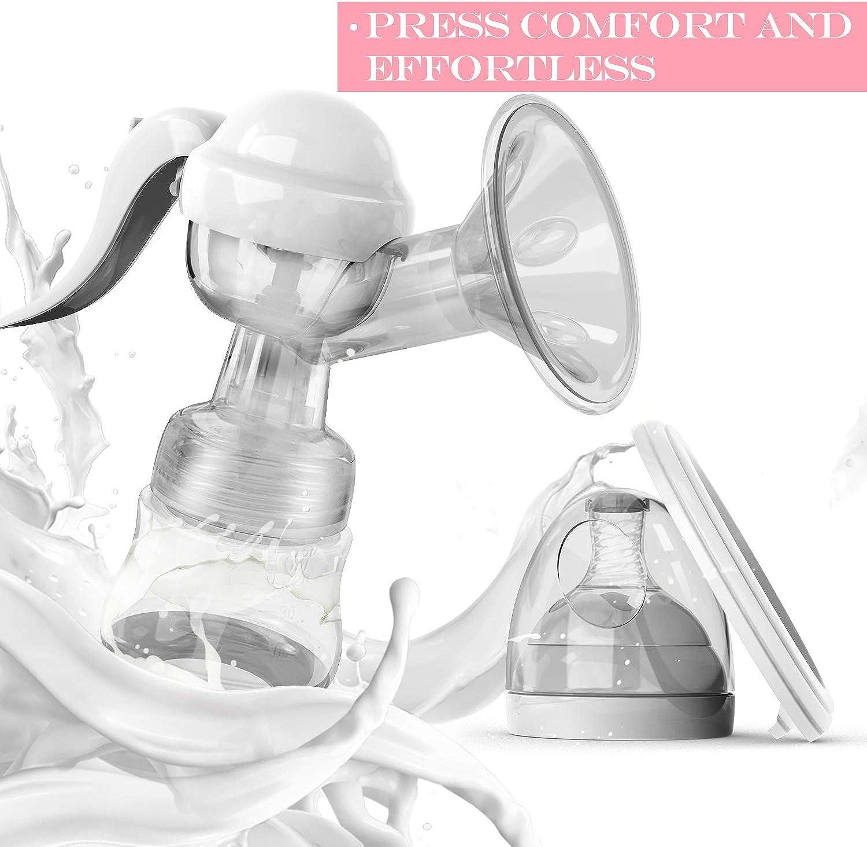 KidoMe Tiralatte Manuale Biberon per l Allattamento al Seno Pompa per il Latte Ergonomico Cuscino Massaggiante