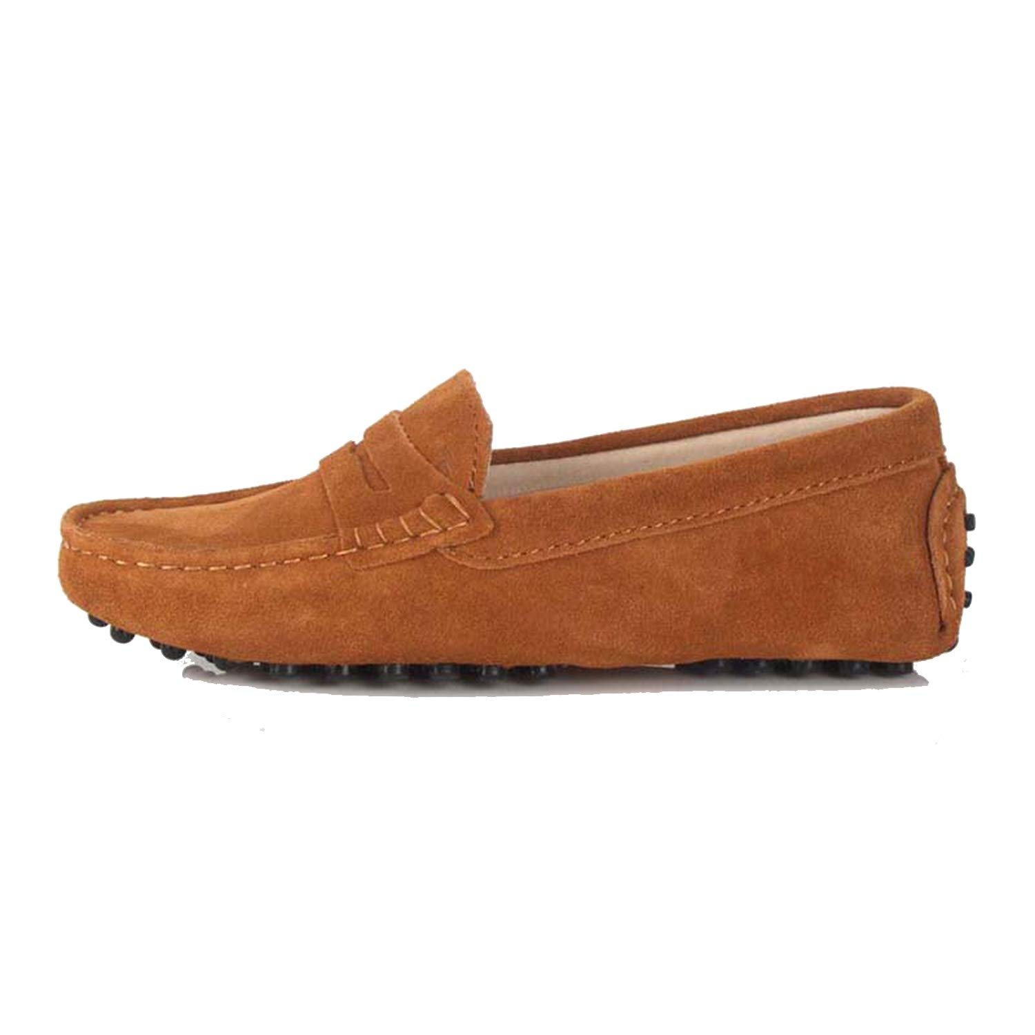 Chestnut Women's Woman shoes Flats Casual Loafers Soft Slip On Moccasins Lady Driving shoes