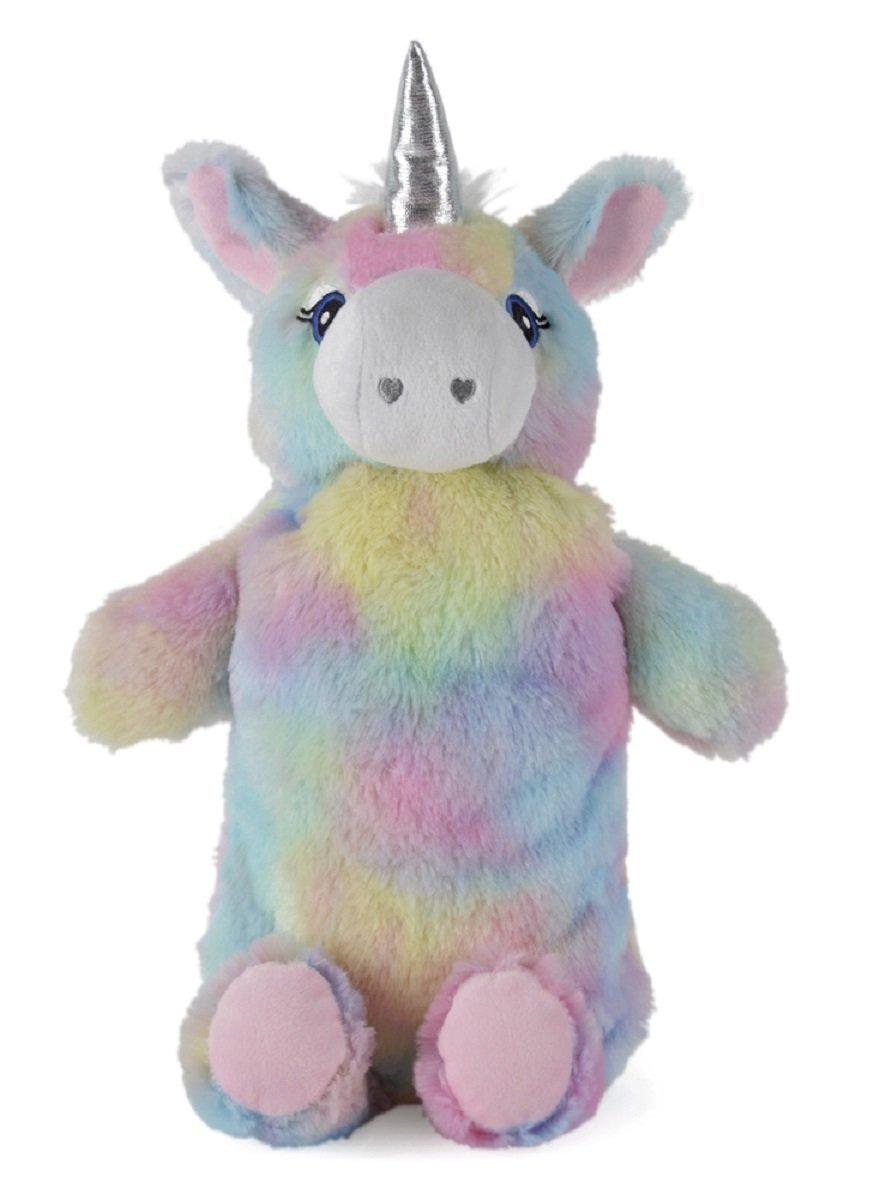 Rainbow Coloured Plush Unicorn Hot Water Bottle