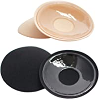 Tinksky 2 Pairs Round Nipple Stickers Cover Adhesive Breast Pasties Invisible Breast Concealer pad for Women