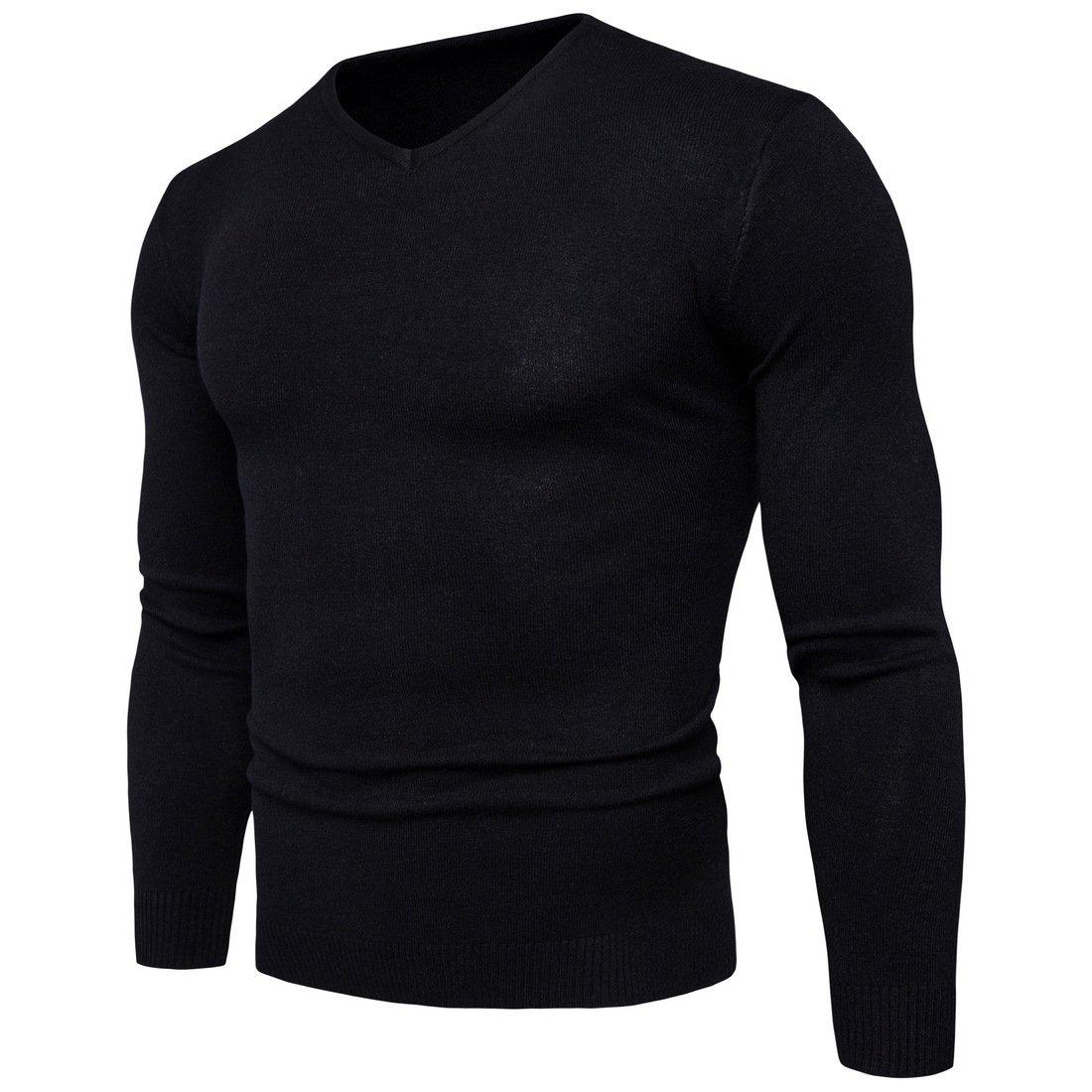 HY-Sweater HY-Sweater HY-Sweater Langarm Knit Pullover Herbst und Winter's Pullover Männer Pullover mit V-Ausschnitt Sau V für Freizeitaktivitäten B077RDDHJ5 Jacken Wirtschaft 64aa06