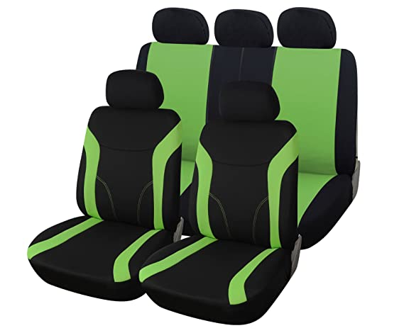 Schwarzer Velours Sitzbezüge für FIAT 500L Autositzbezug Set