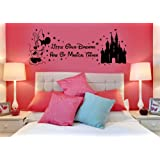 Disney Minnie Mouse Magical Things Castle Children's Vinyl Wall Art Sticker Decal Mural Transfer Stencil (Black)