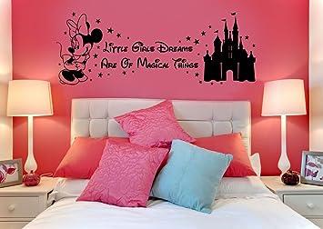 Disney Minnie Maus Wandtattoo Magical Things Schloss für Kinder ...