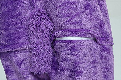 notte Animale travestimenti Pigiama Unicorn Costume da camicie Cosplay Costumi Anime Adulti Monopezzi Purple Pigiami Halloween e Sport Unicorno VineCrown Attrezzatura Zw8qOHE