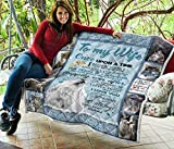 I Love You Forever and Always to My Wife Quilt King Size - All Season Comforter with Cotton Quilts - Best Decorative Unique Banklet for Traveling, Picnics, Beach Trips, Gifts