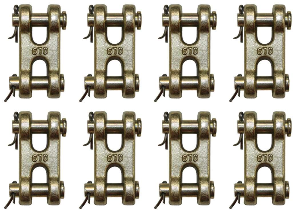 BA Products (8) 11-DC516-x8, 5/16'' Double Clevis, Grade 70 Chain Connector, Coupling Link. Master Link