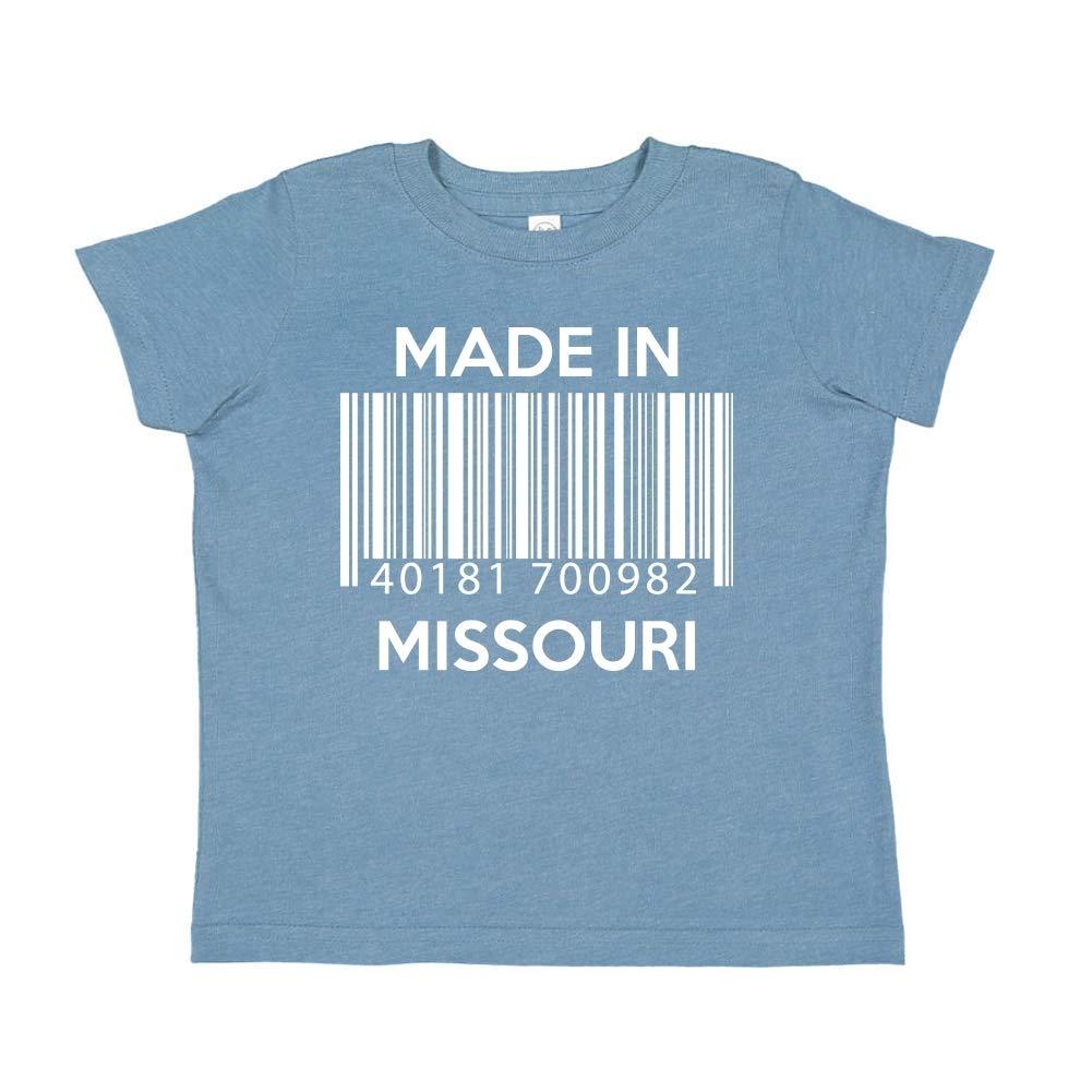 Barcode Made in Missouri Toddler//Kids Short Sleeve T-Shirt