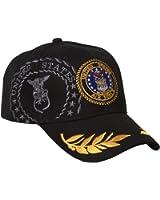 Military - US Air Force Emblem Hat - Black