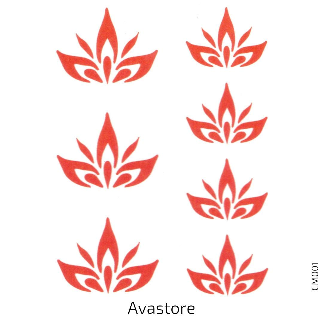Avastore – Lote de 2 tatuajes temporales para mujer con flor de ...