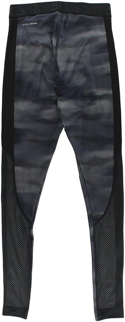 Reebok Womens Workout Ready Camo Tights Black XS
